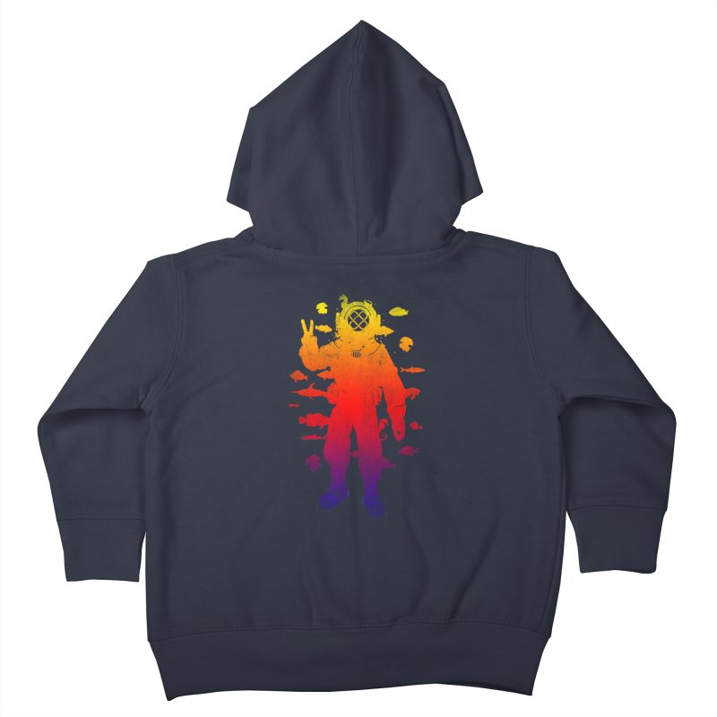 Peace Diver Kids Toddler Zip-Up Hoody by Jonah Makes Art