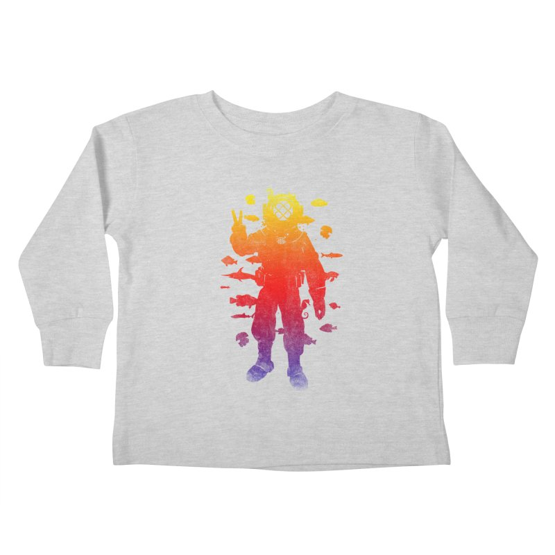 Peace Diver Kids Toddler Longsleeve T-Shirt by Jonah Makes Art