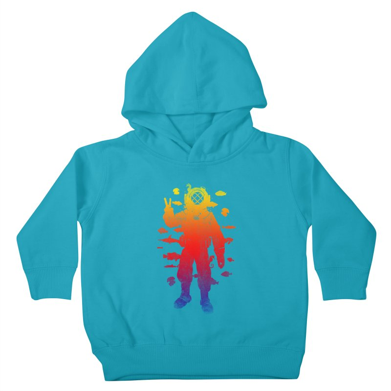 Peace Diver Kids Toddler Pullover Hoody by Jonah Makes Art