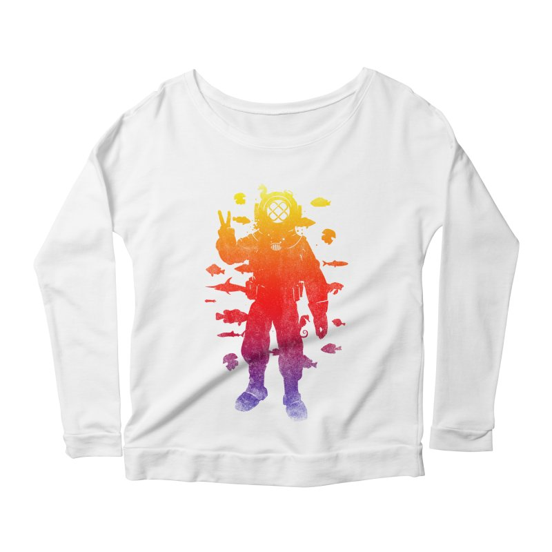 Peace Diver Women's Longsleeve Scoopneck  by Jonah Makes Art