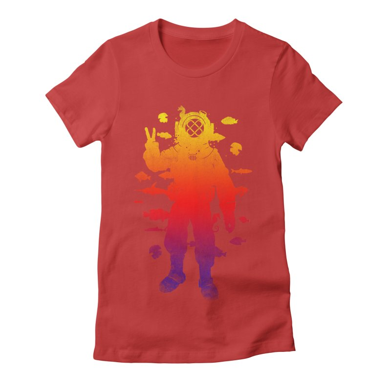 Peace Diver Women's Fitted T-Shirt by Jonah Makes Art