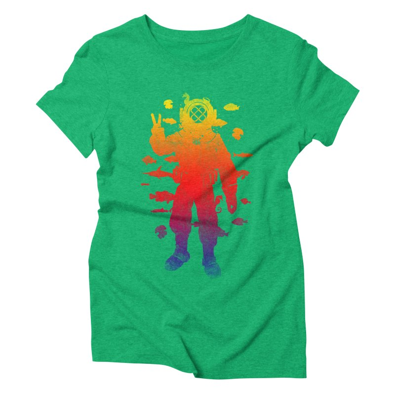 Peace Diver Women's Triblend T-shirt by Jonah Makes Art