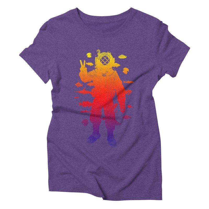Peace Diver Women's Triblend T-Shirt by Jonah Makes Art