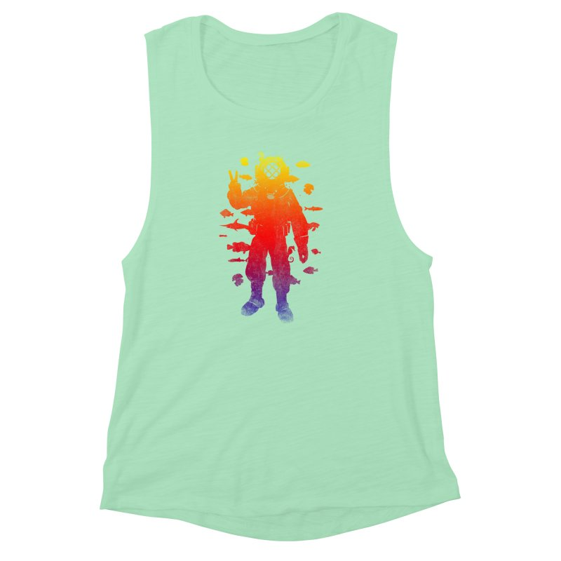 Peace Diver Women's Muscle Tank by Jonah Makes Art