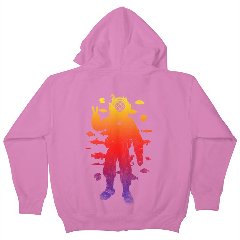 Peace Diver Kids Zip-Up Hoody by Jonah Makes Art