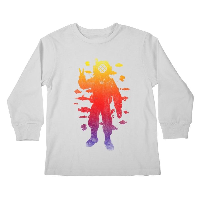 Peace Diver Kids Longsleeve T-Shirt by Jonah Makes Art