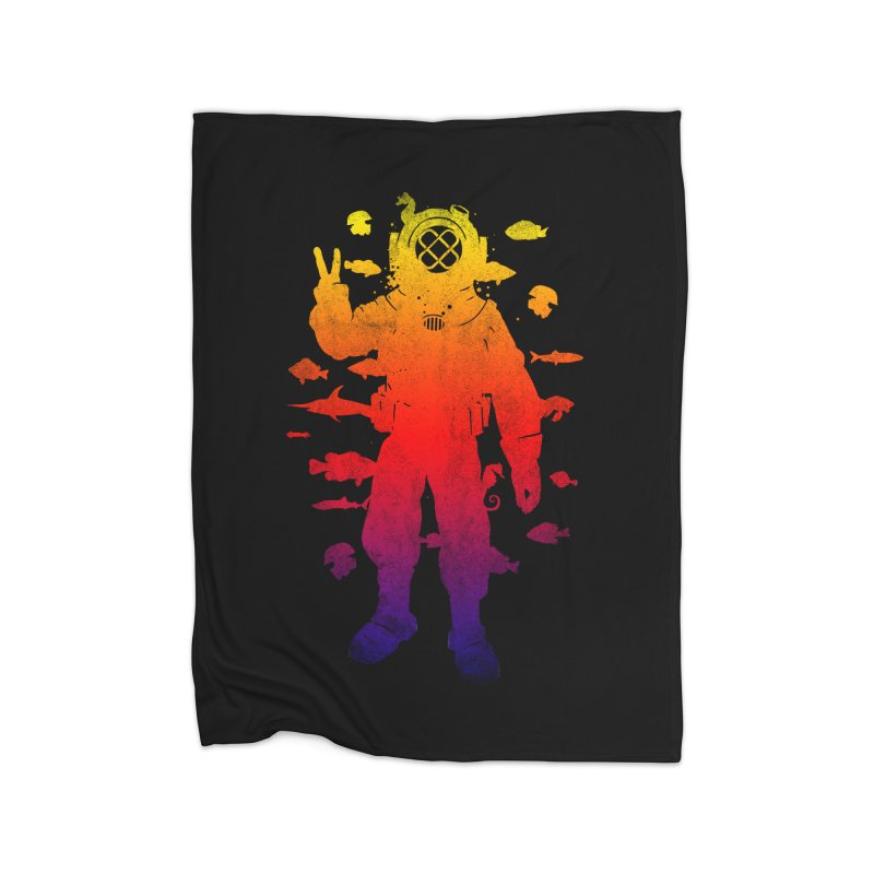 Peace Diver Home Blanket by Jonah Makes Art