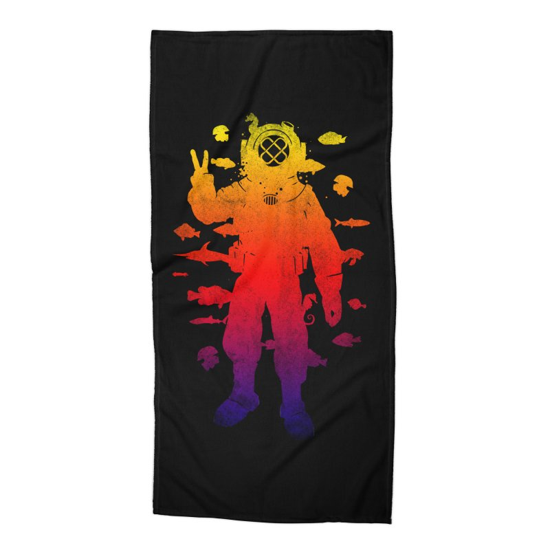 Peace Diver Accessories Beach Towel by Jonah Makes Art