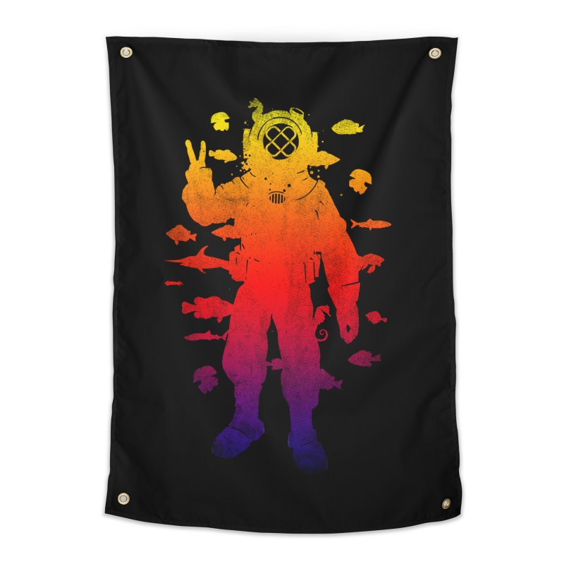 Peace Diver Home Tapestry by Jonah Makes Art