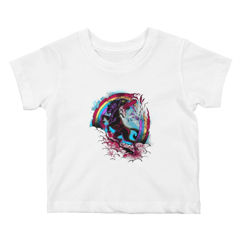 Murdercorn Kids Baby T-Shirt by Jonah Makes Art