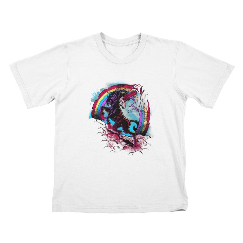 Murdercorn Kids T-Shirt by Jonah Makes Art