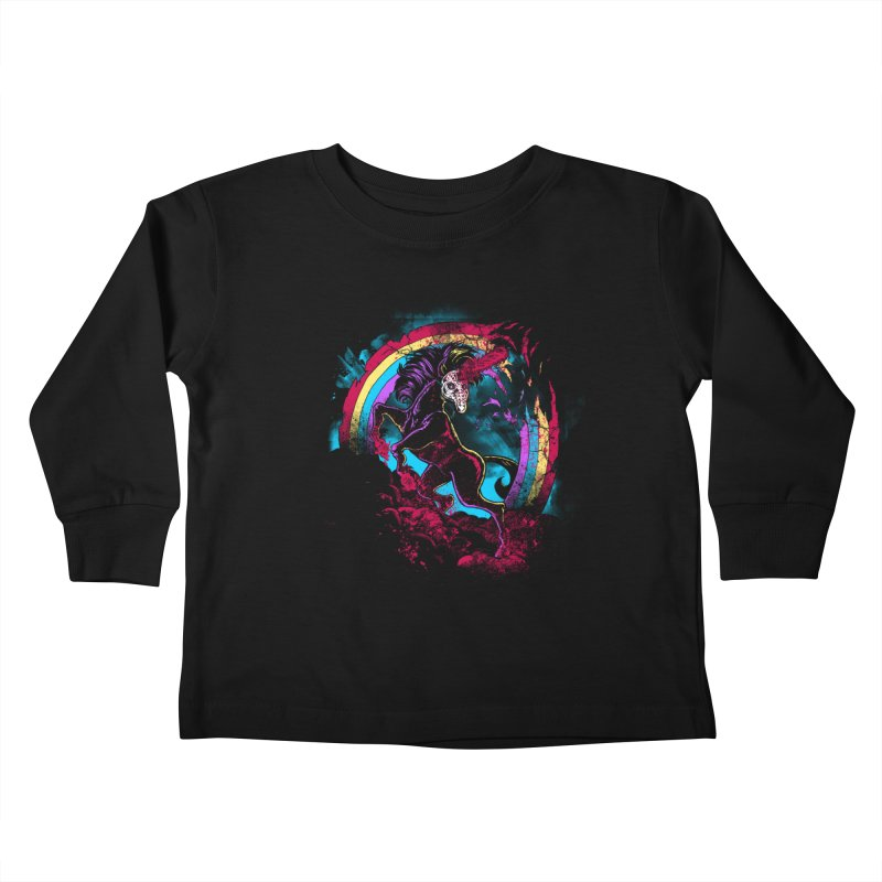 Murdercorn Kids Toddler Longsleeve T-Shirt by Jonah Makes Art