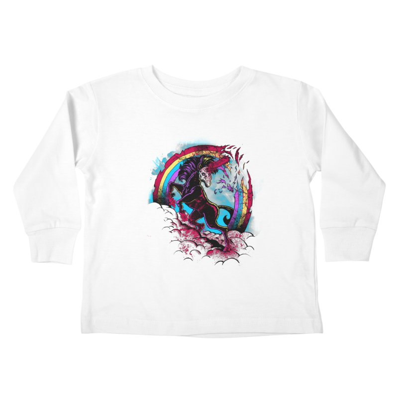 Murdercorn Kids Toddler Longsleeve T-Shirt by Jonah Makes Art