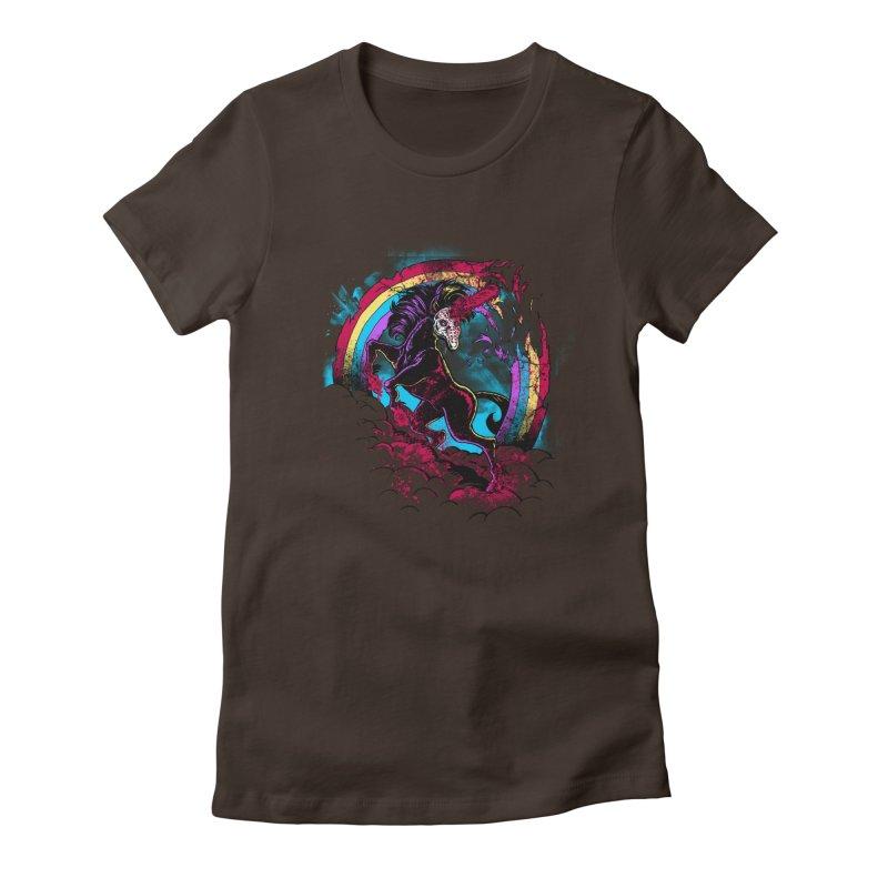 Murdercorn Women's Fitted T-Shirt by Jonah Makes Art