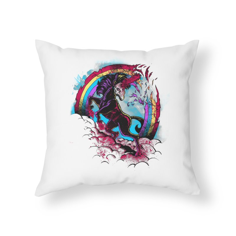 Murdercorn Home Throw Pillow by Jonah Makes Art