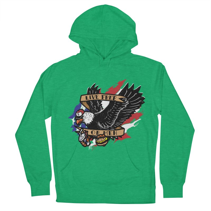 America the Meh Women's Pullover Hoody by Jonah Makes Art