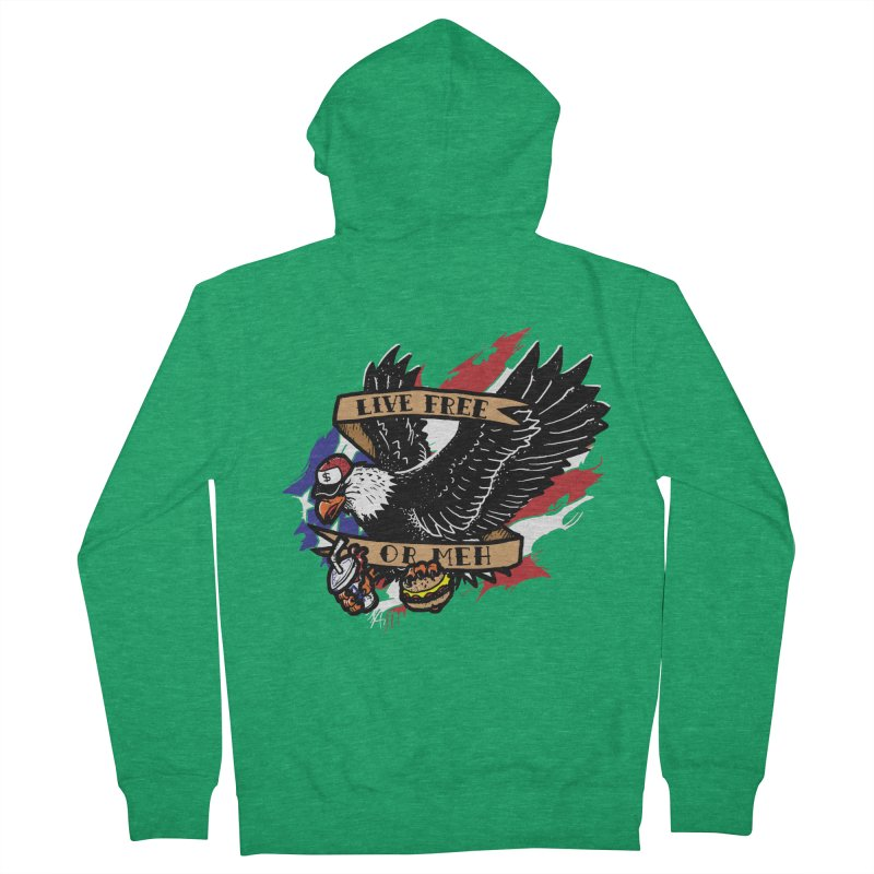 America the Meh Women's Zip-Up Hoody by Jonah Makes Art
