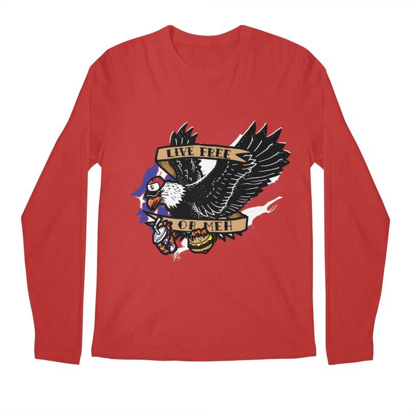 America the Meh Men's Longsleeve T-Shirt by Jonah Makes Art