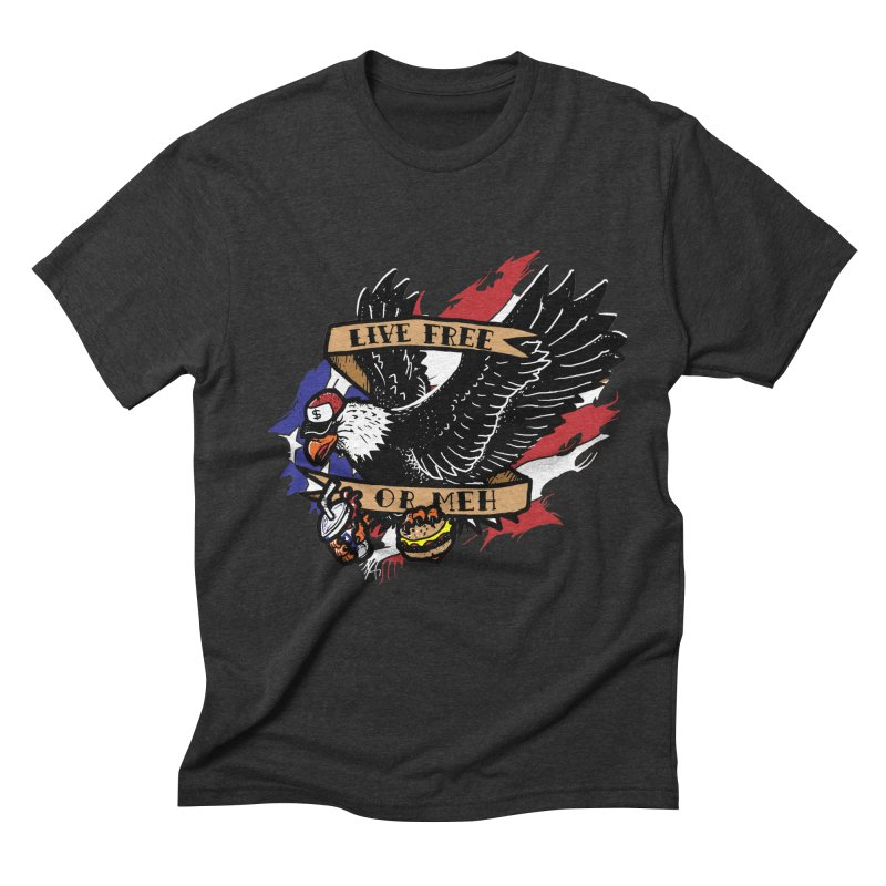 America the Meh Men's Triblend T-Shirt by Jonah Makes Art