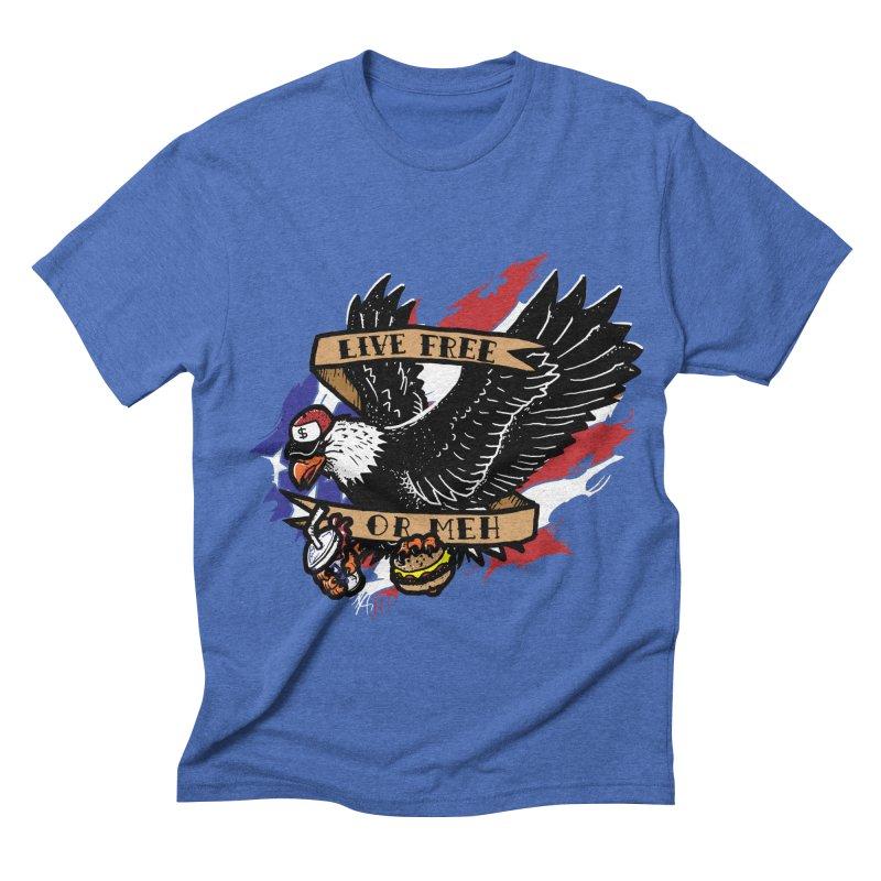 America the Meh Men's Triblend T-shirt by Jonah Makes Art