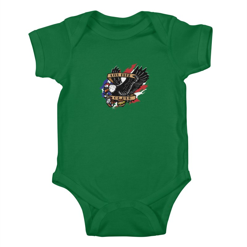 America the Meh Kids Baby Bodysuit by Jonah Makes Art