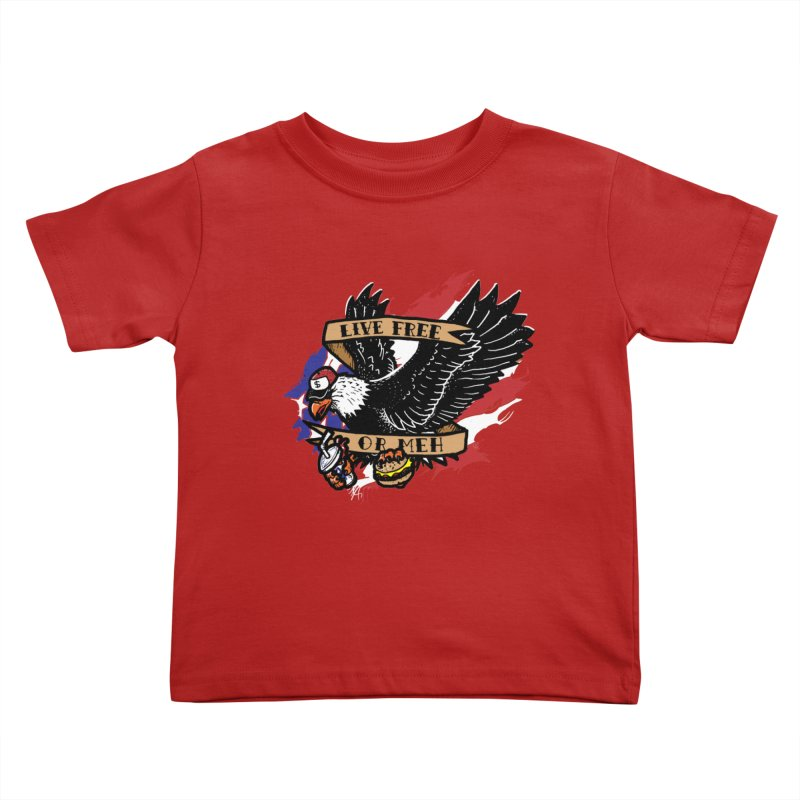 America the Meh Kids Toddler T-Shirt by Jonah Makes Art