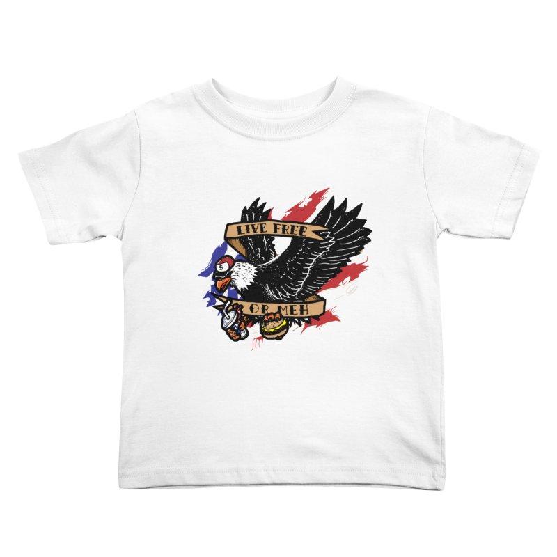 America the Meh Kids Toddler T-Shirt by Jonah Makes Art