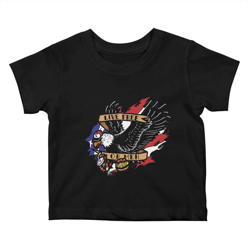 America the Meh Kids Baby T-Shirt by Jonah Makes Art