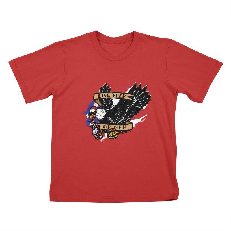 America the Meh Kids T-Shirt by Jonah Makes Art