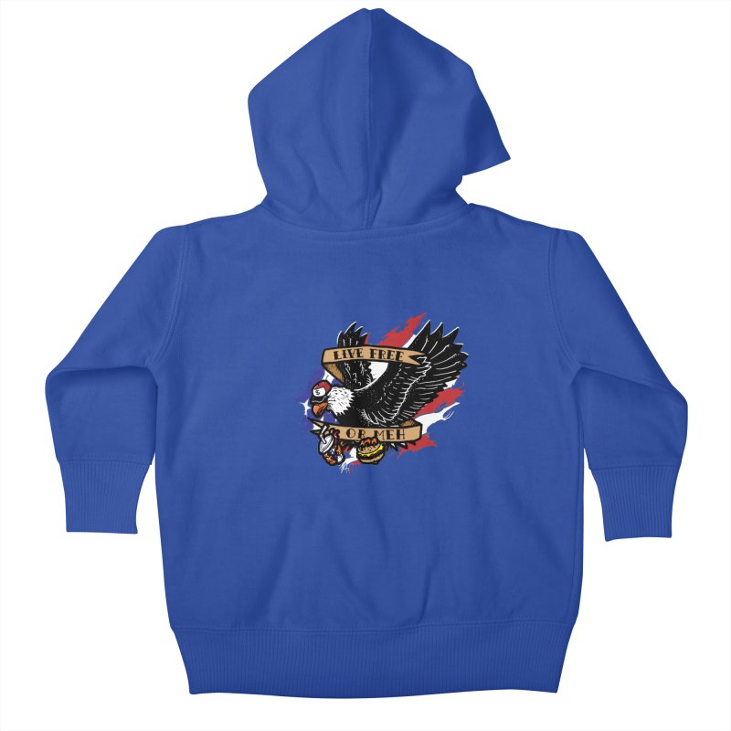 America the Meh Kids Baby Zip-Up Hoody by Jonah Makes Art