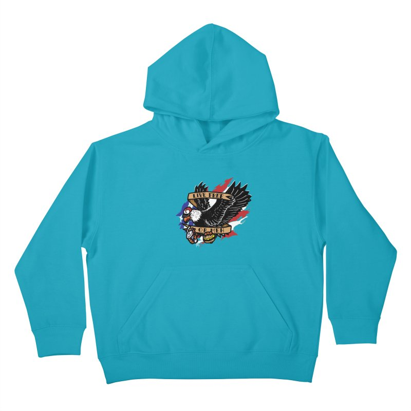 America the Meh Kids Pullover Hoody by Jonah Makes Art