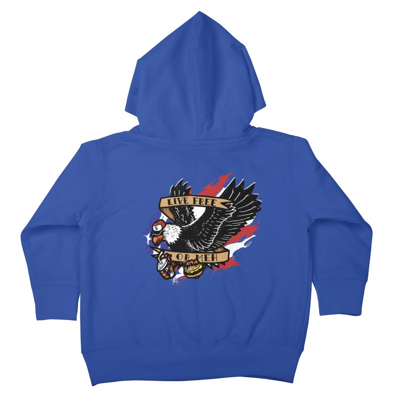 America the Meh Kids Toddler Zip-Up Hoody by Jonah Makes Art
