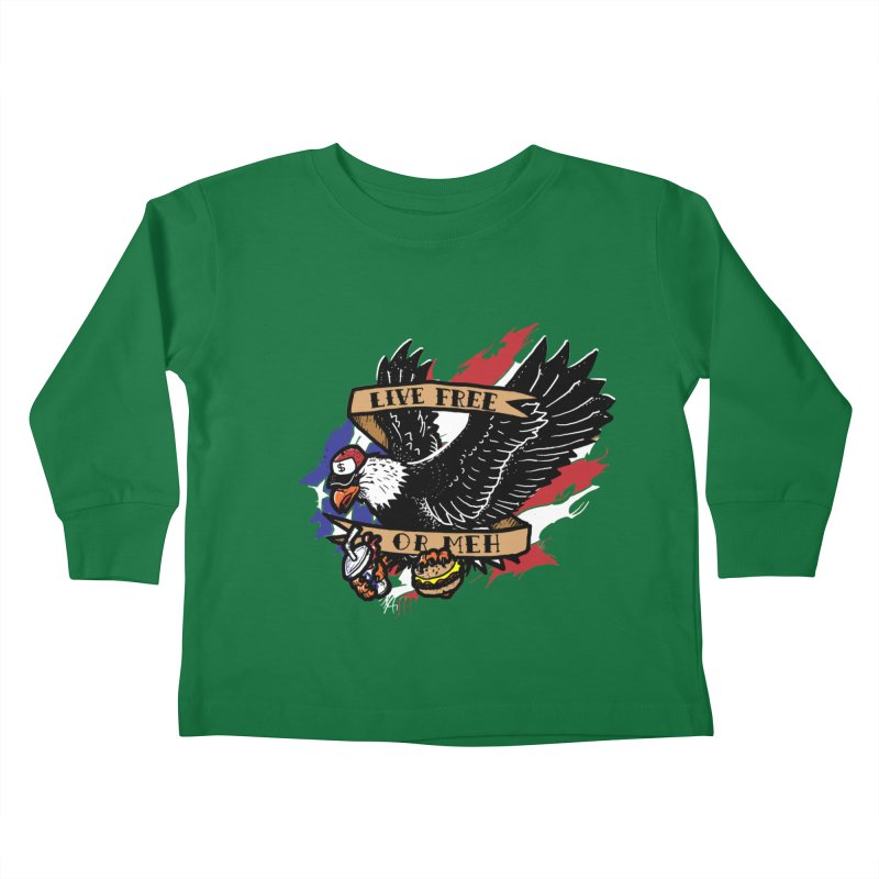 America the Meh Kids Toddler Longsleeve T-Shirt by Jonah Makes Art