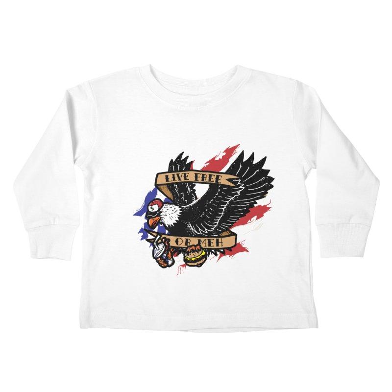 America the Meh Kids Toddler Longsleeve T-Shirt by Jonah Makes Art