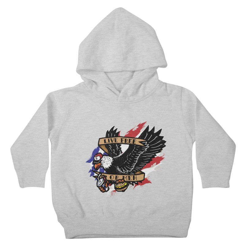 America the Meh Kids Toddler Pullover Hoody by Jonah Makes Art