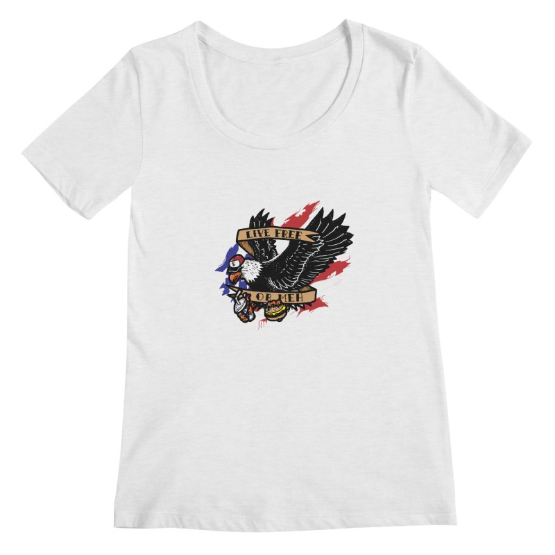 America the Meh Women's Scoopneck by Jonah Makes Art