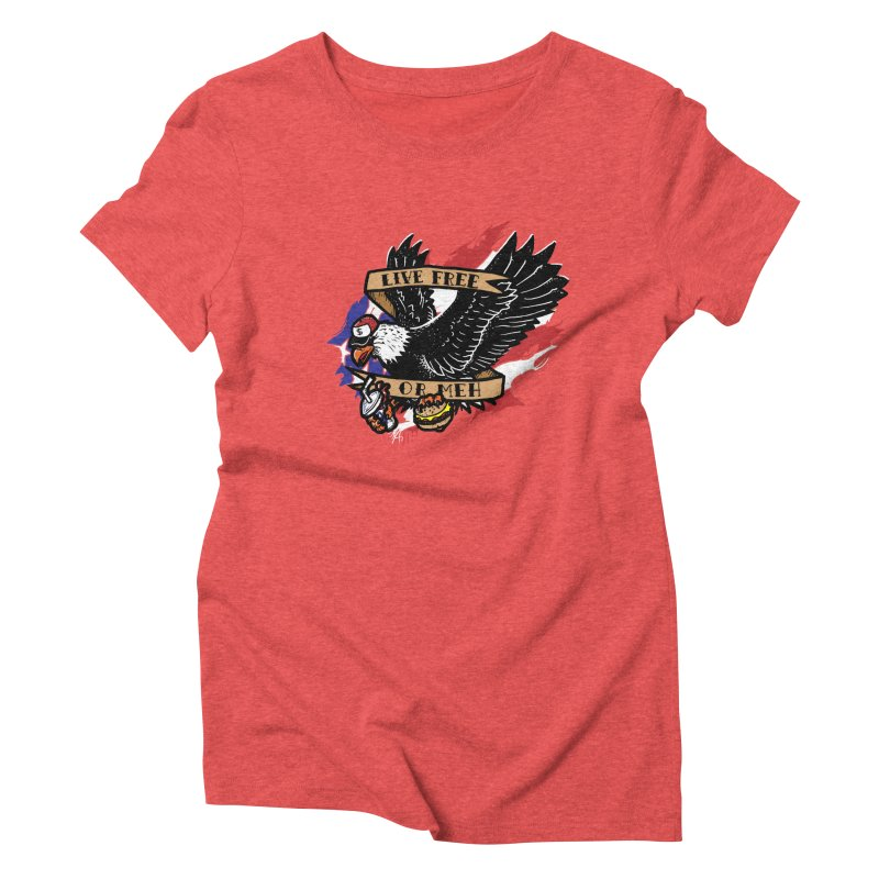 America the Meh Women's Triblend T-shirt by Jonah Makes Art