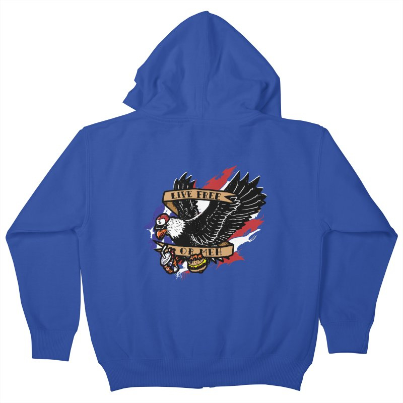America the Meh Kids Zip-Up Hoody by Jonah Makes Art