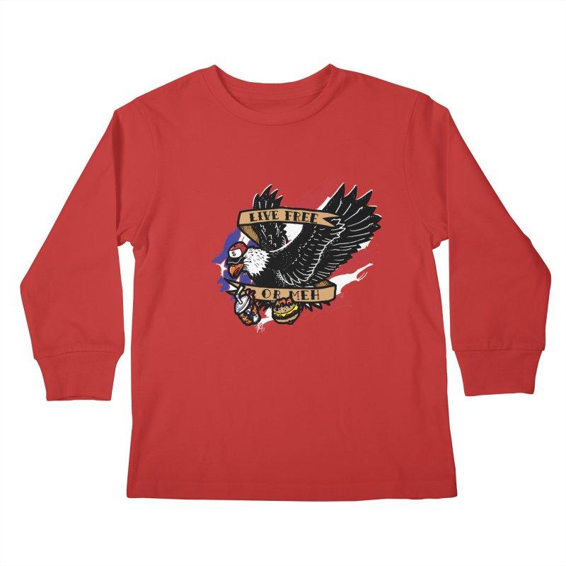 America the Meh Kids Longsleeve T-Shirt by Jonah Makes Art