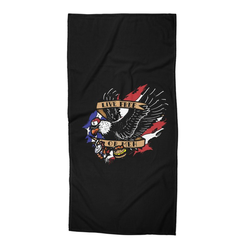 America the Meh Accessories Beach Towel by Jonah Makes Art