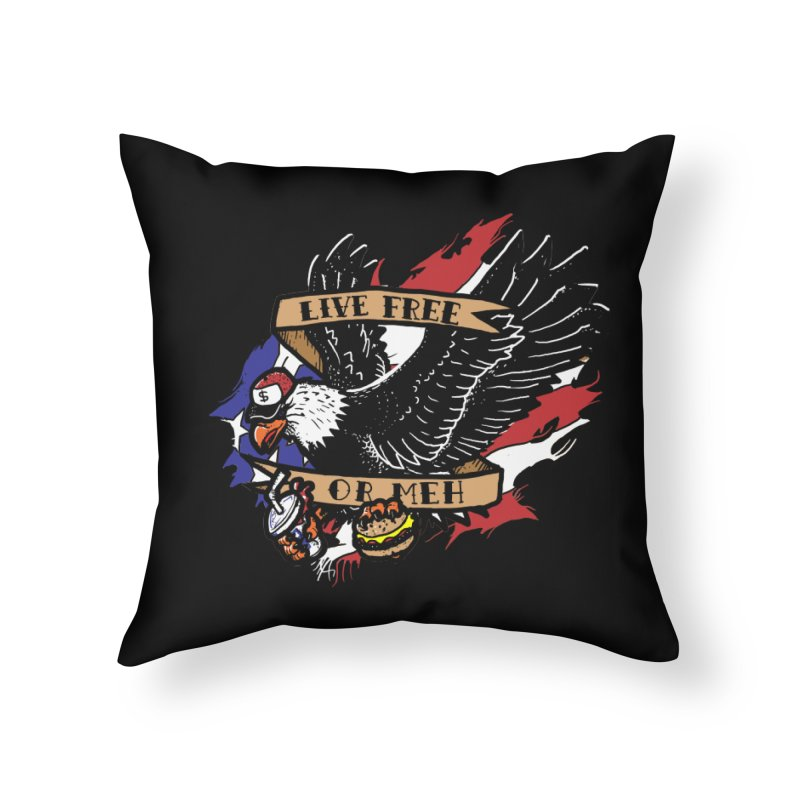 America the Meh Home Throw Pillow by Jonah Makes Art