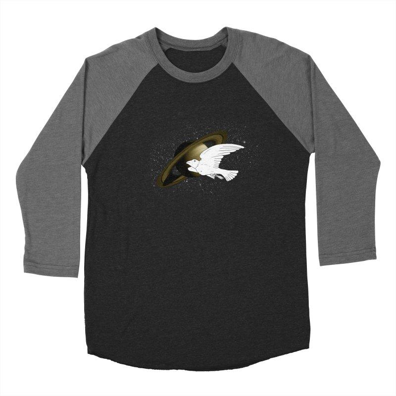 spacebird Men's Baseball Triblend T-Shirt by Jonah Makes Art
