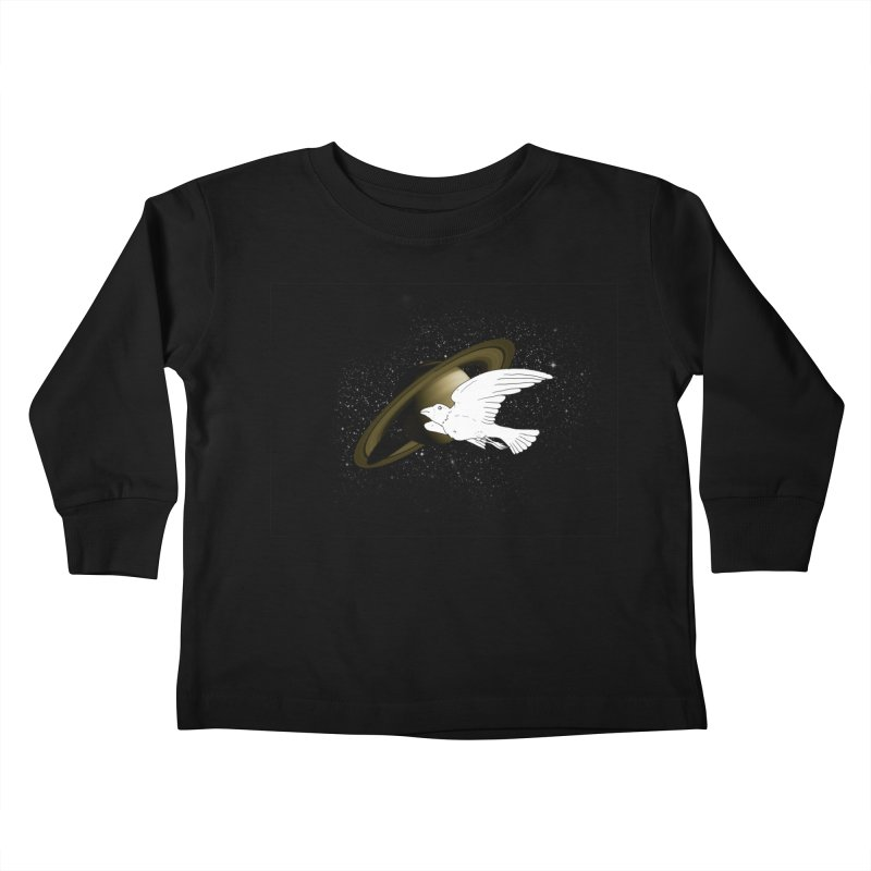 spacebird Kids Toddler Longsleeve T-Shirt by Jonah Makes Art