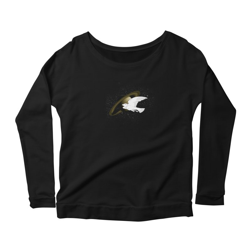 spacebird Women's Longsleeve Scoopneck  by Jonah Makes Art