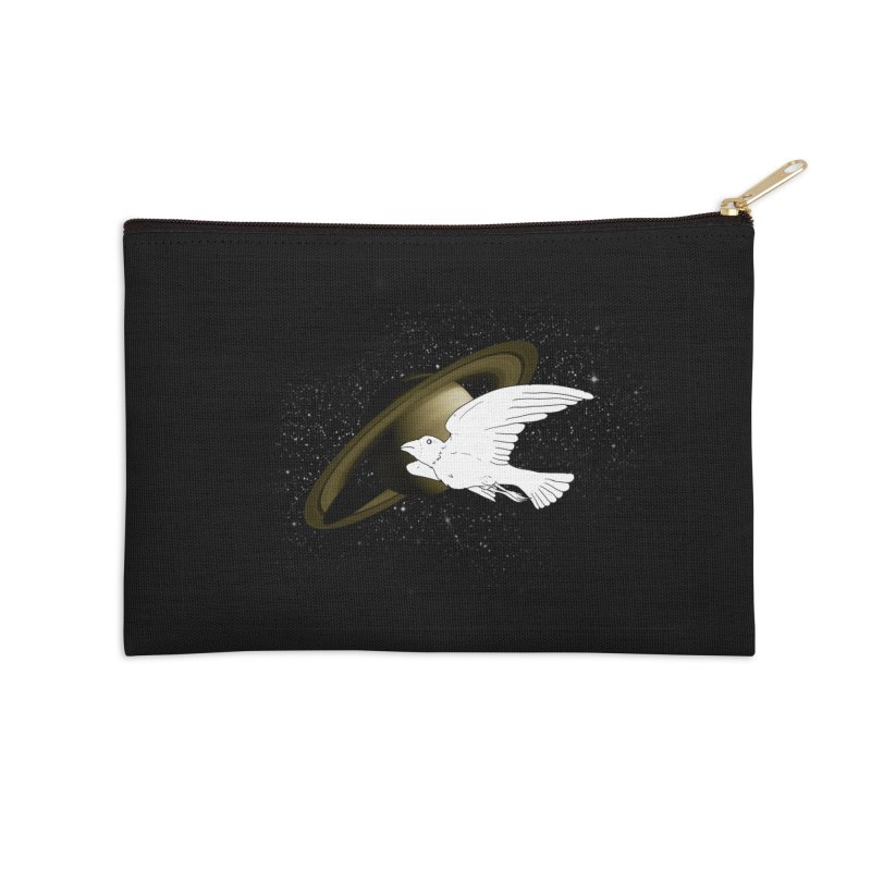 spacebird Accessories Zip Pouch by Jonah Makes Art