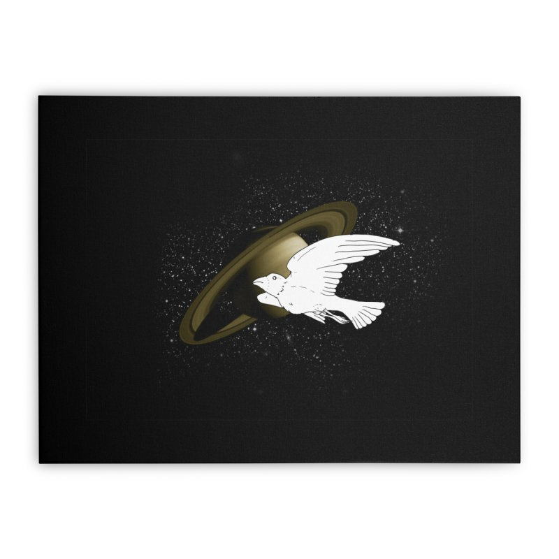spacebird Home Stretched Canvas by Jonah Makes Art