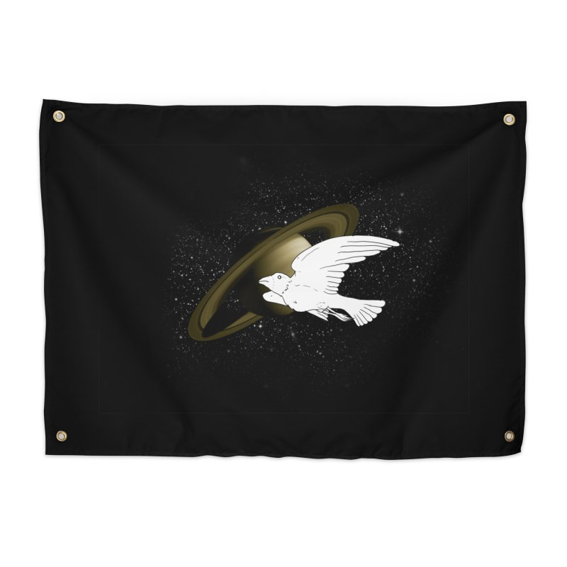 spacebird Home Tapestry by Jonah Makes Art