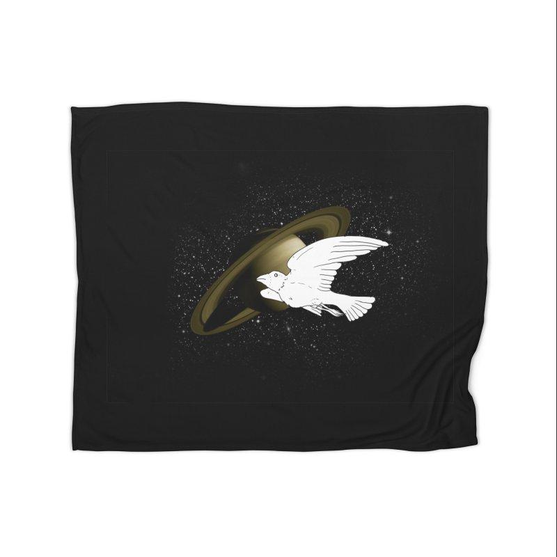 spacebird Home Blanket by Jonah Makes Art