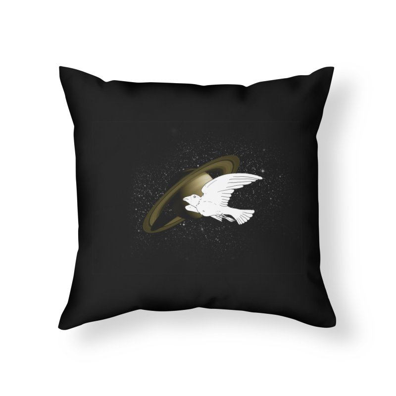 spacebird Home Throw Pillow by Jonah Makes Art