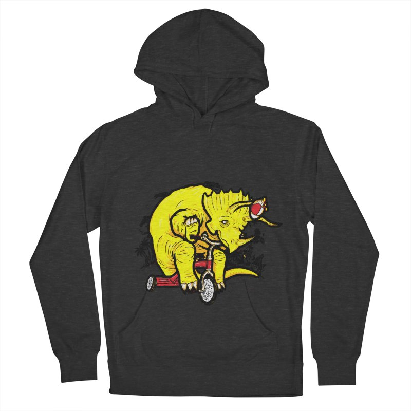 Triceratops ona Tricycle  Women's Pullover Hoody by Jonah Makes Art